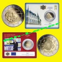 Muenzhandel Lenerat 2 X 2 Euro Coincard Luxemburg 2012