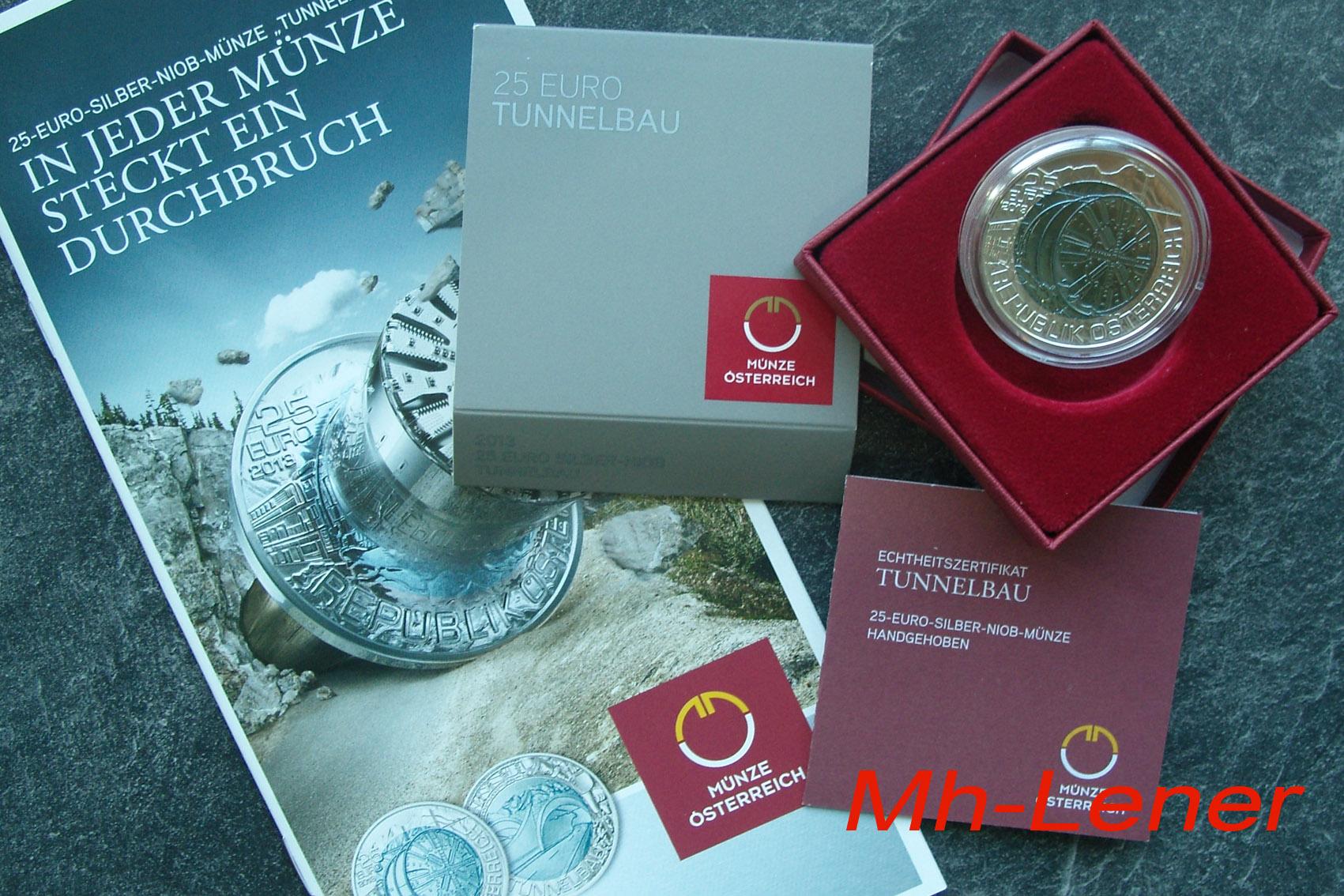 Muenzhandel Lenerat 25 Euro Niob österreich 2013